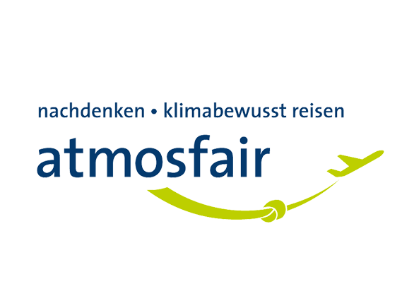Logo atmosfair partner CO₂-Kompensation