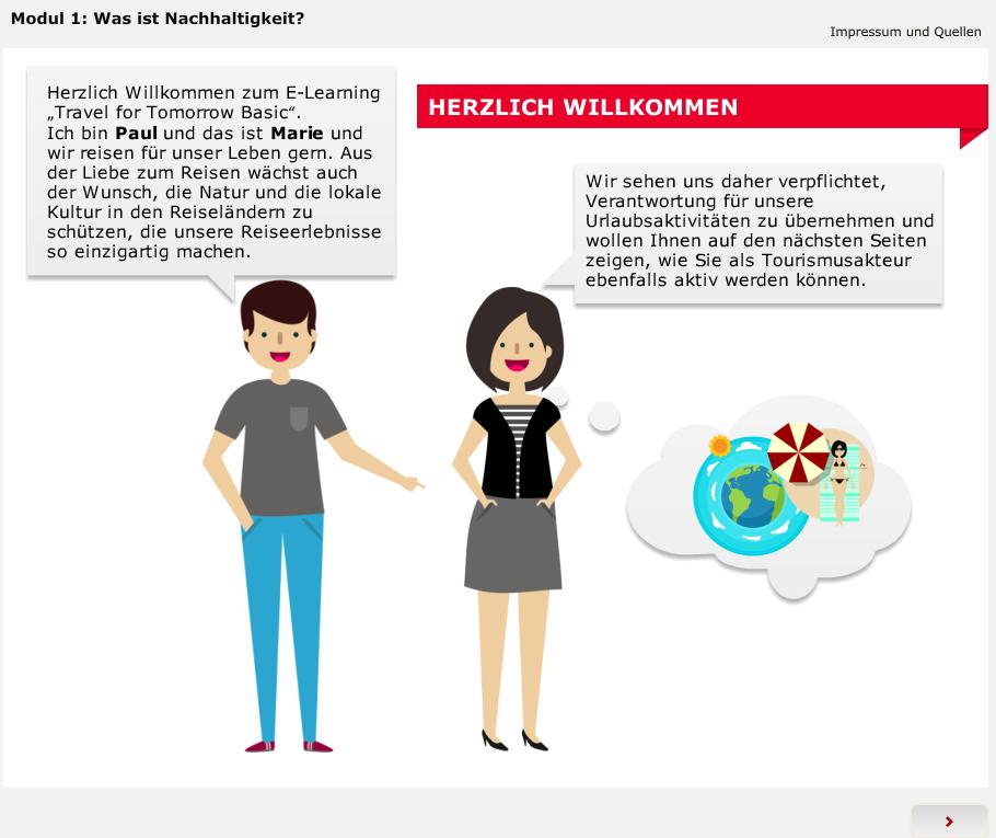 Ein Screenshot von der Titelseite des E-Learnings.