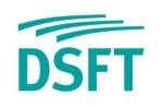 Blaues Firmenlogo von DSFT