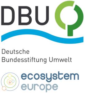 Logos von der Deutschen Bundesstiftung Umwelt und Ecosystem Europe