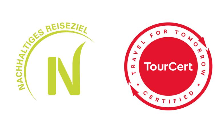 """Siegel für """"Nachhaltiges Reiseziel"""" und TourCert-Zertifizierung"""