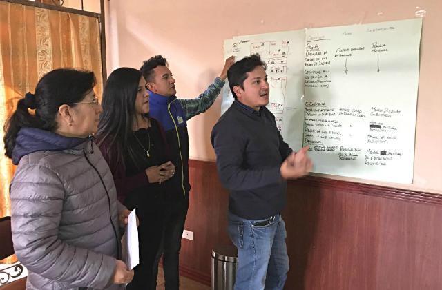 Workshop-TeilnehmerInnen in San Joaquín, Ecuador © TourCert Ecuador