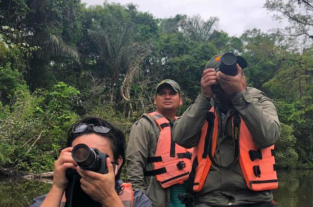 Tierbeobachtung im Wildtierreservat Cuyabeno © Verónica Muñoz/TourCert