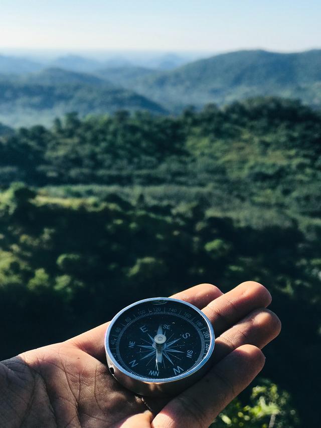 Hand hält Kompass © Pexels