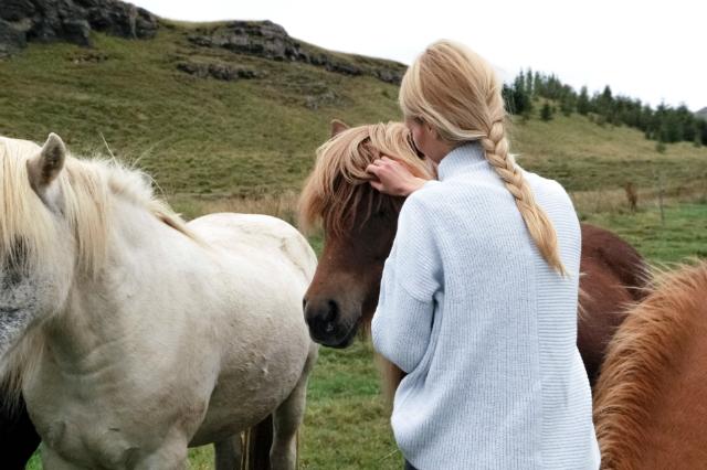 Mädchen streichelt Pony © Unsplash