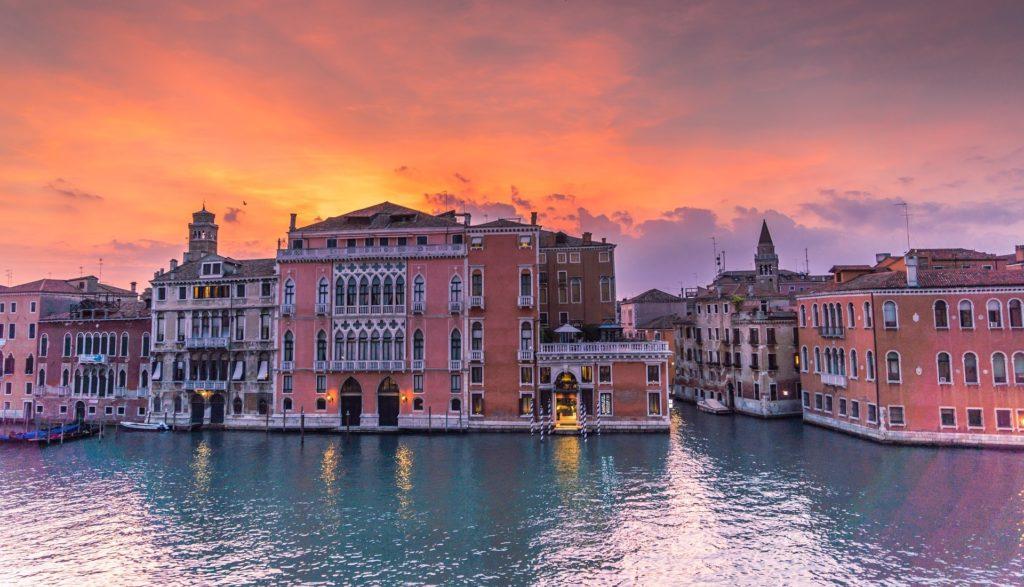 Venedig bei Sonnenuntergang.
