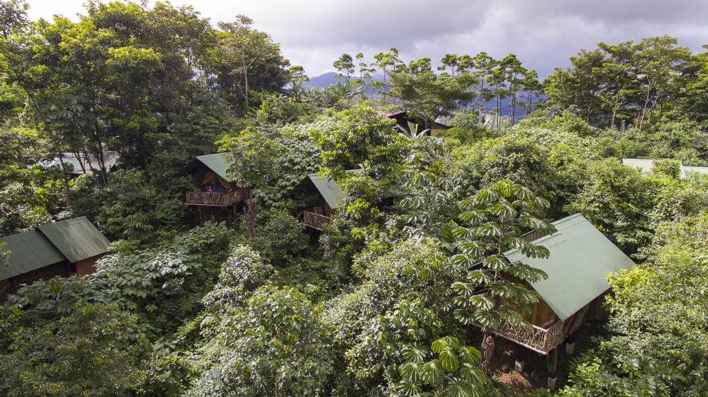 """El Albergue """"La Tigra"""" en Costa Rica desde arriba."""