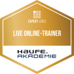 Logo Live online trainer of the Haufe Academy