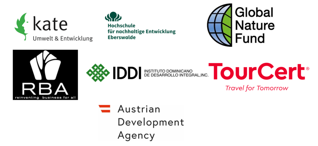 The logos of the partner companies of the Transforming Tourism project