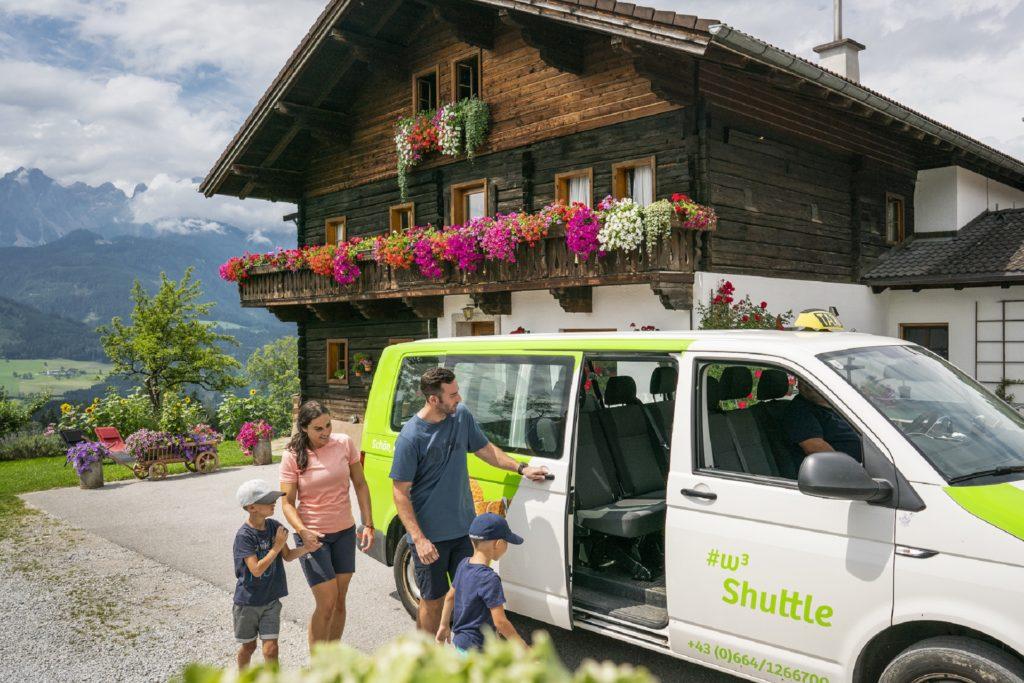 Shuttleservice der Alpine Pearls