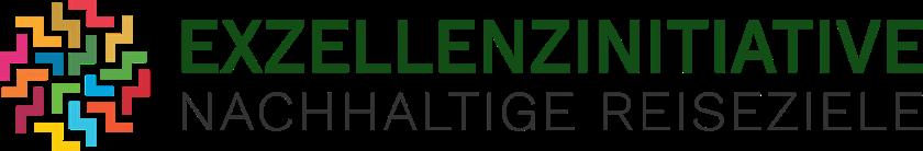 El logo de Exzellenzinitiative Nachhaltige Reiseziele.